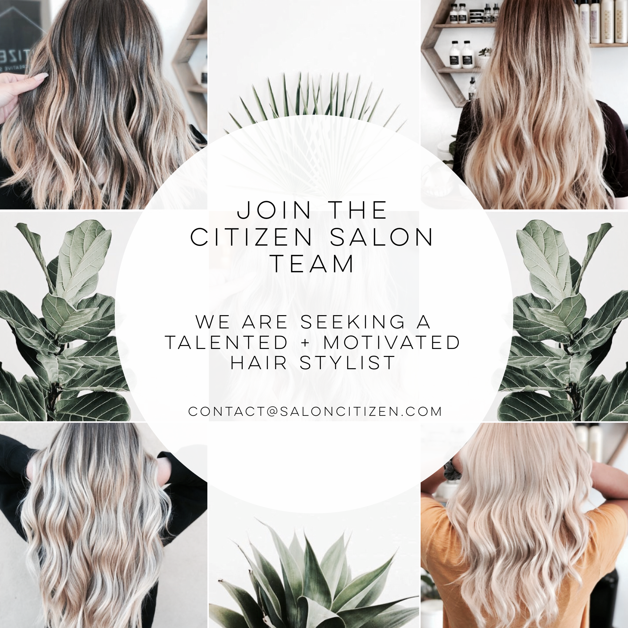 NOW HIRING: Booth Rent Stylist | Citizen Salon (Oceanside)