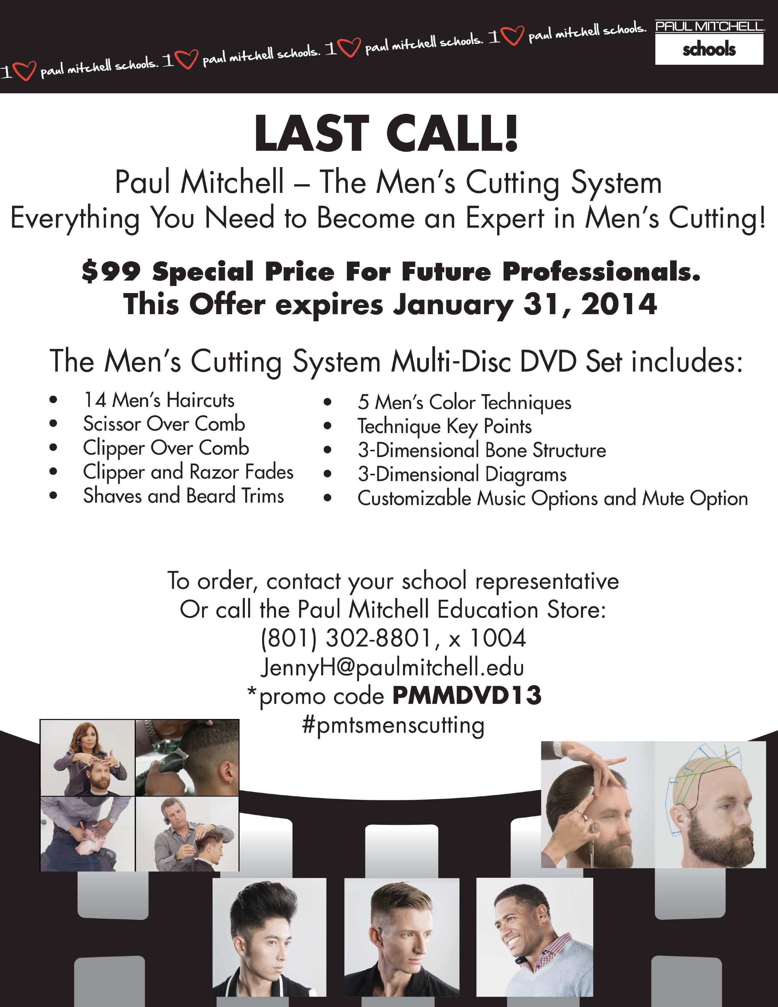 Paul Mitchell The Mens Cutting System Dvd On Sale